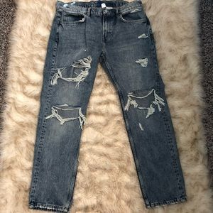 Distressed Denim Jeans, Worn Once!